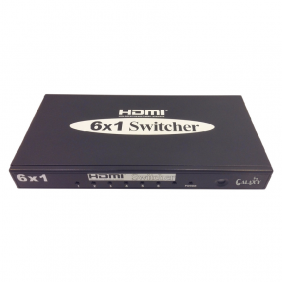 HDMI Switcher 6X1 Black