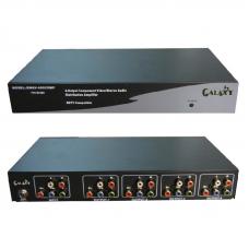 AV component distribution amplifier, 4 channels