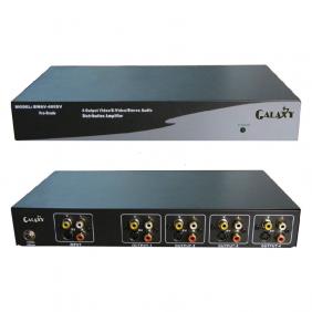 AV S-Video distribution amplifier, 4 channels