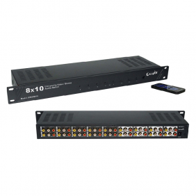 AV Switch Rack-mount 8in 10out