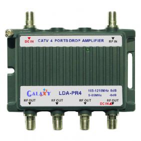 LDA-PR4   CATV 4-Port Drop Amplifier 1in 4out 5-1002MHz