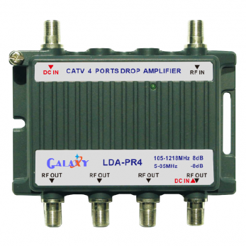 LDA-PR4   CATV 4-Port Drop Amplifier 1in 4out 5-10...