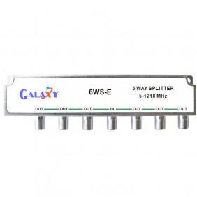 E Type 6-way Splitters 1.2G Single-sided