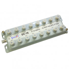 DC-16  MDU 16-way HQ Splitter 6KV Surge Protection and Low Inter-Modulation