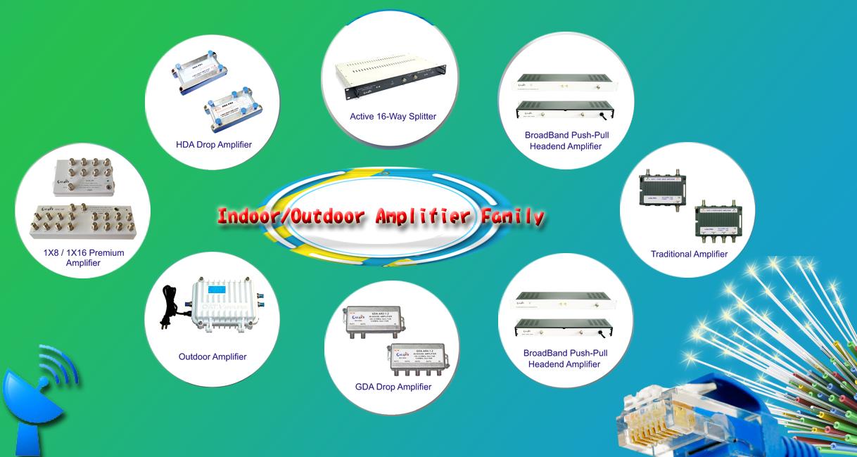 Indoor outdoor Amplitier Family